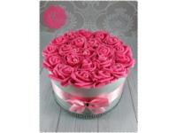 Rózsaszín rózsadoboz