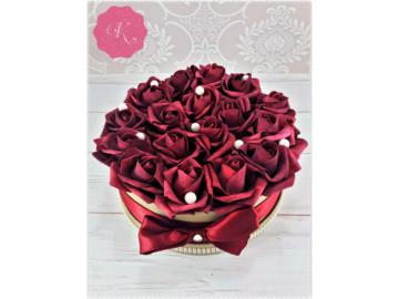 Bordó rózsadoboz