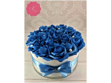 Kék rózsadoboz
